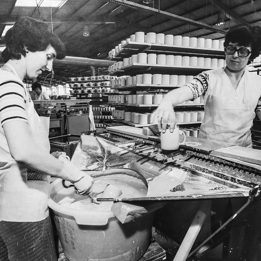 Glasieren war dagegen Arbeit von Frauen.